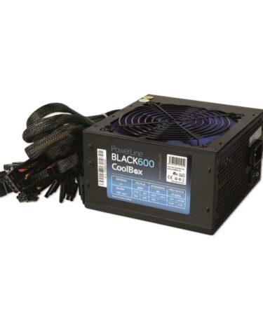 CoolBox fuente alimentación Powerline 600 PFC ATX
