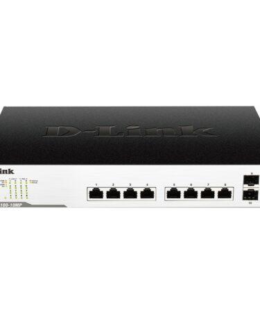 D-Link DGS-1100-10MP Switch 8xGB PoE+ 2xSFP