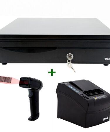 iggual Pack Cajon + Impresora + Lector Laser