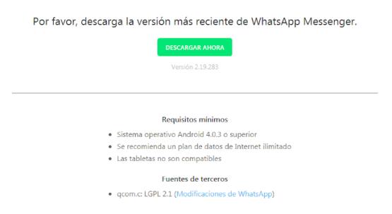 Nueva vulnerabilidad que afecta a algunos usuarios de WhatsApp 4